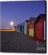 Beach Sheds At Dusk Canvas Print