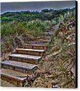 Beach Stairs Canvas Print by Joanne Kocwin