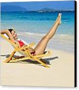 Beach Stretching Canvas Print by Tomas del Amo