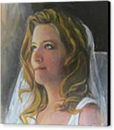 Beautiful Bride Canvas Print by Lyn Vic