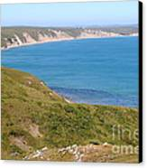 Beautiful Coastline Of Point Reyes California . 7d16050 Canvas Print by Wingsdomain Art and Photography