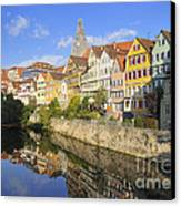 Beautiful German Town Tuebingen - Neckar Waterfront Canvas Print by Matthias Hauser
