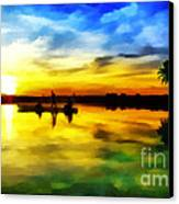Beautiful Sunset Canvas Print by Vidka Art