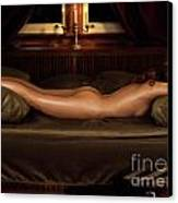 Beautiful Woman Sleeping Naked Canvas Print