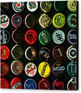 Beer Bottle Caps . 2 To 1 Proportion Canvas Print