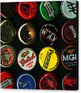 Beer Bottle Caps . 3 To 1 Proportion Canvas Print by Wingsdomain Art and Photography