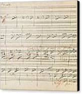 Beethoven Manuscript, 1806 Canvas Print by Granger
