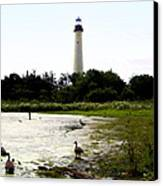 Behind The Cape May Lighthouse Canvas Print by Bill Cannon