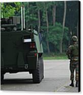 Belgian Infantry Soldiers Walk Canvas Print