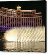 Bellagio Fountains 4 Canvas Print by Charles Warren