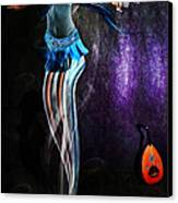Belly Dance Genie Canvas Print by Vidka Art