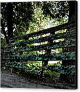 Benched Canvas Print