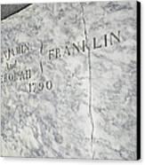 Benjamin Franklin's Grave Canvas Print by Snapshot Studio