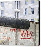 Berlin Wall Canvas Print by Matthias Hauser