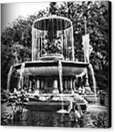 Bethesda Fountain Canvas Print by Paul Ward