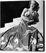 Bette Davis Wearing Gown With Calla Canvas Print