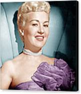Betty Grable, Ca. 1950s Canvas Print