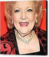 Betty White At Arrivals For Time 100 Canvas Print by Everett