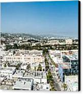 Beveryly Hills Panoramic Canvas Print