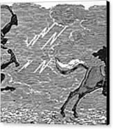 Bewick: Devil Canvas Print