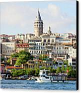 Beyoglu District In Istanbul Canvas Print by Artur Bogacki