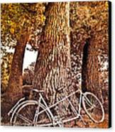 Bicycle Built For Two Canvas Print by Debra and Dave Vanderlaan