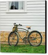 Bicycle By House Canvas Print