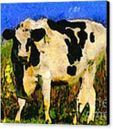 Big Bull 2 . 7d12437 Canvas Print by Wingsdomain Art and Photography