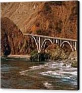 Big Creek Bridge Close Canvas Print