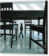 Big Table And Chairs Canvas Print