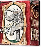 Big Top Elephants Canvas Print