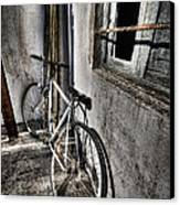 Bike Station Canvas Print by Gabriel Calahorra