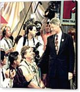 Bill Clinton Appears With Young Canvas Print