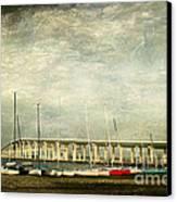 Biloxi Bay Bridge Canvas Print by Joan McCool