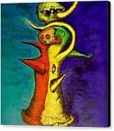 Biohazard  Voodoo Canvas Print