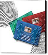 Biometric Id Cards Canvas Print