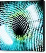 Biometric Identification Canvas Print by Pasieka