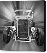 Black And White 32 Ford Canvas Print by Steve McKinzie
