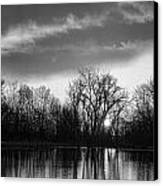 Black And White Sunrise Over Water Canvas Print by James BO  Insogna
