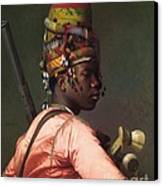 Black Bashi - Bazouk Canvas Print by Pg Reproductions