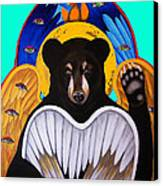 Black Bear Seraphim Photoshop Canvas Print