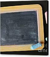Blackboard Chalk Canvas Print by Carlos Caetano