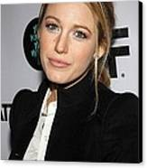 Blake Lively At Arrivals For You Know Canvas Print by Everett