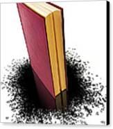 Bleading Book Canvas Print