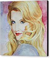 Blond Pinup  Canvas Print by Terri Maddin-Miller