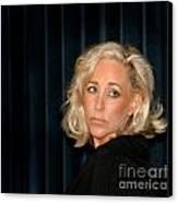 Blond Woman Sad Canvas Print