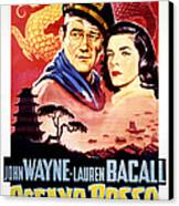Blood Alley, John Wayne, Lauren Bacall Canvas Print by Everett