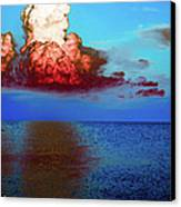 Blood Red Clouds Canvas Print
