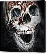 Bloody Skull Canvas Print by Joana Kruse