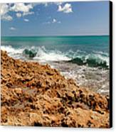 Blowing Rocks Jupiter Island Florida Canvas Print by Michelle Wiarda